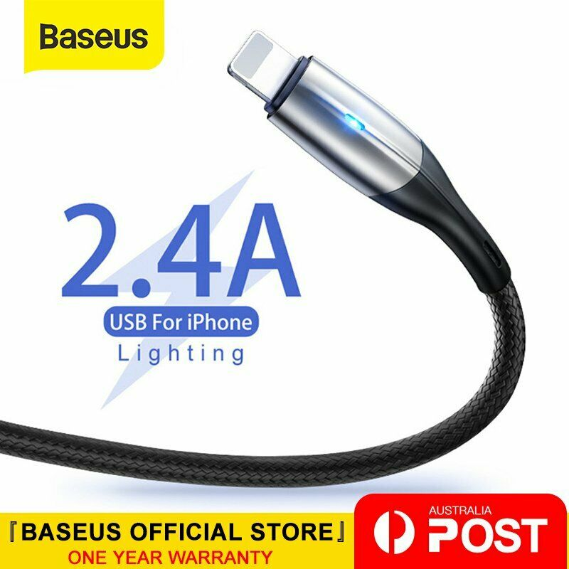 AU9.99 • Buy Baseus Lightning Cable Fast Charging Charger Cord For IPhone XS XR 8 7 6 IPad