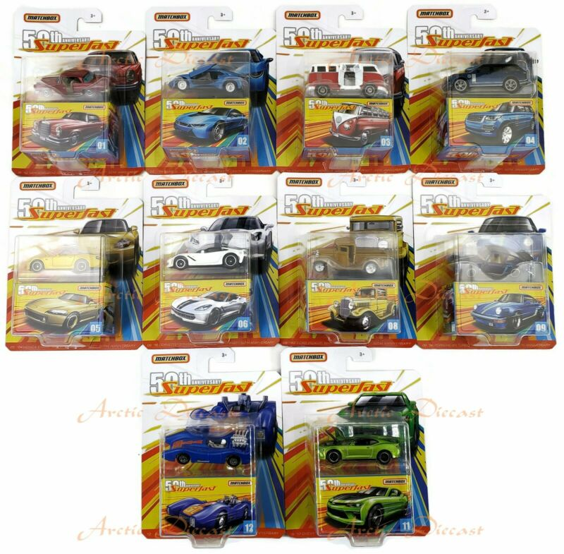2019 Matchbox Superfast 50th Anniversary Pick Your Vehicles New Cars Added 12/14 • 8.95$