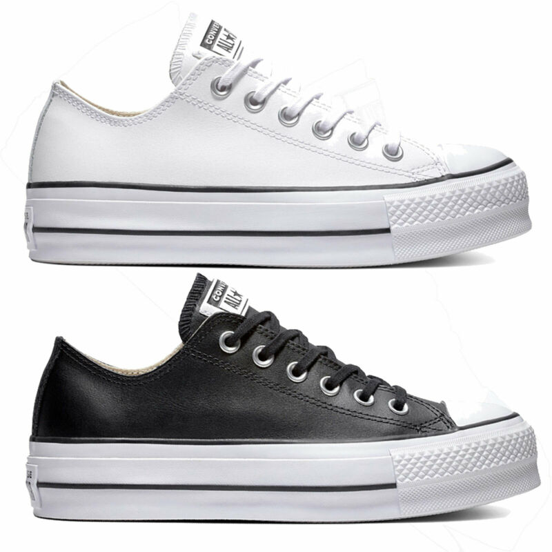 converse all star blancas piel