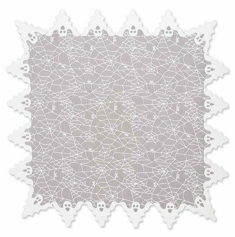 $32.95 • Buy Ghost In White Table Topper 58  X 58  Square - Heritage Lace - Spooky Halloween