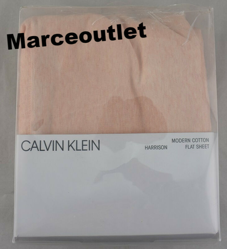 Calvin Klein Home Modern Cotton Harrison QUEEN Flat Sheet Pink • 9.99$
