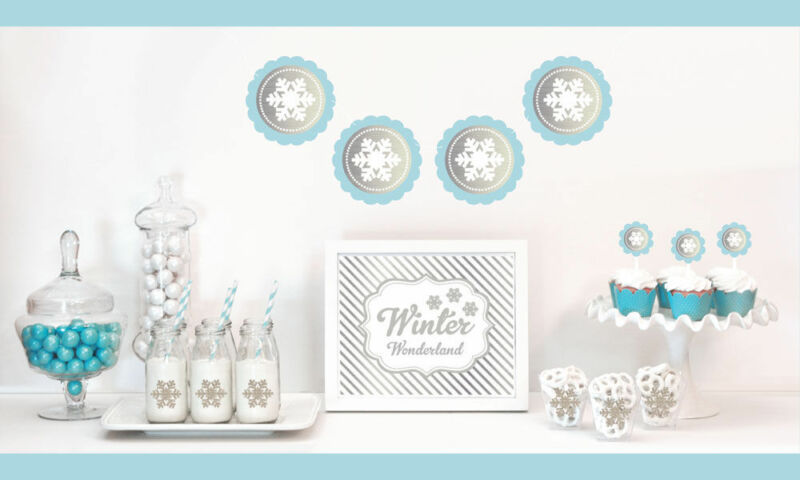 Silver And Glitter Bridal Shower Decorations Kit Winter Wedding Decorations • 46$