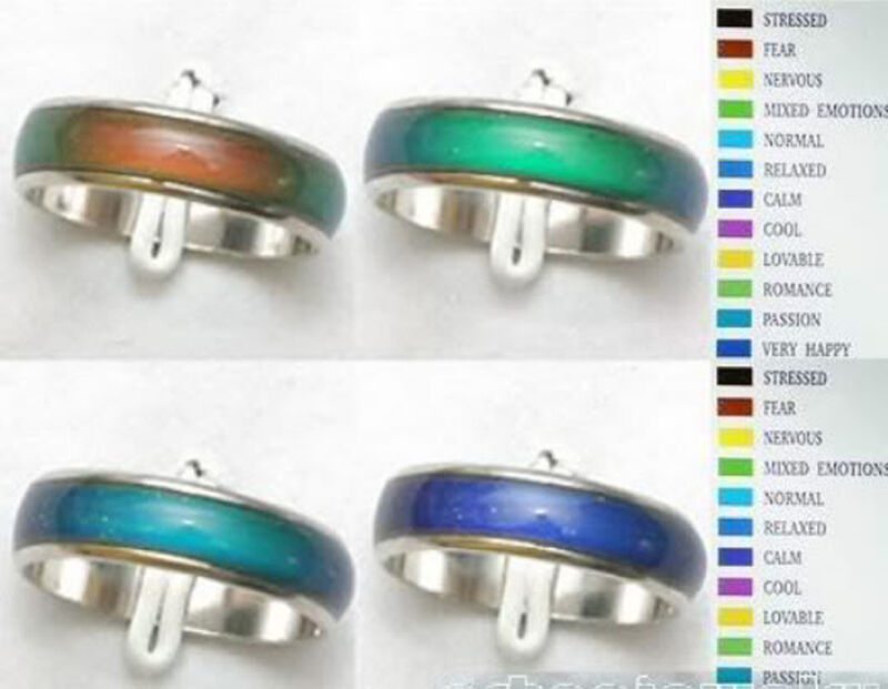 $ CDN3.09 • Buy Wholesale Jewelry Lots 10pcs Stainless Steel Change Color Emotional Mood Rings
