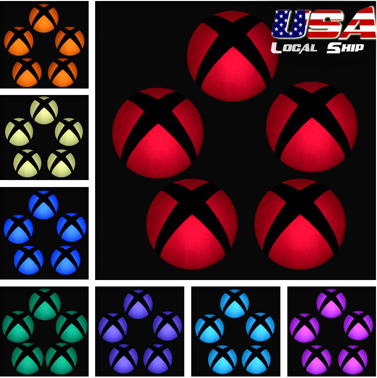 $3.39 • Buy Custom Power Button Cover Stickers Skin LED Color Change For Xbox One Console