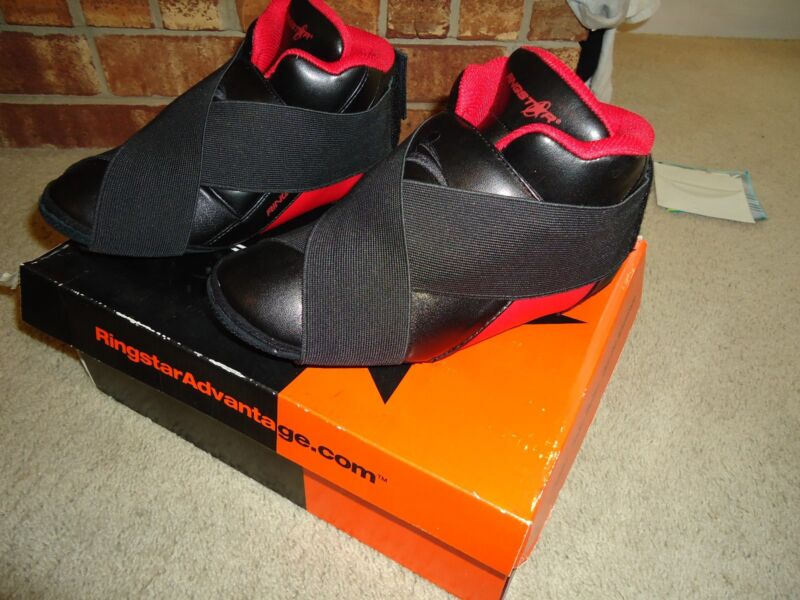 $25.99 • Buy Ringstar Sparring Shoes NEW - In Orginal Box - Size 3 / 4 Black Red