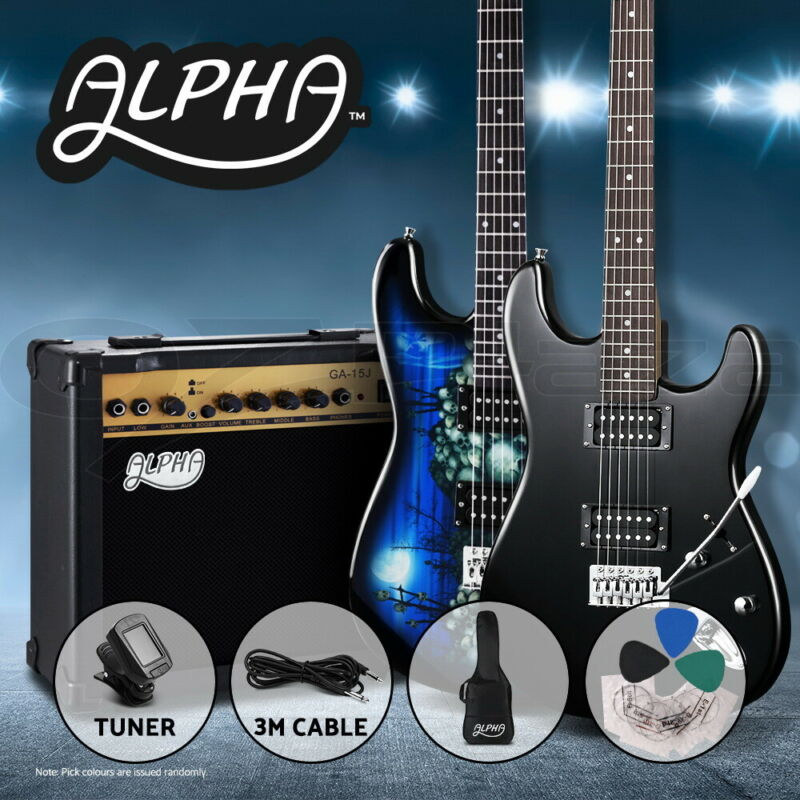 AU199.90 • Buy Alpha Electric Guitar Music String Instrument Rock Black Amplifier Guitar Bag