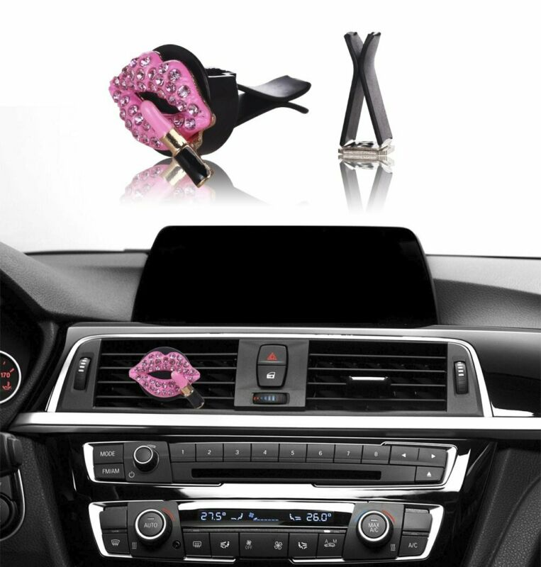 $6.75 • Buy Bling Bling Car Accessories Interior Decoration For Girls Women - Pink Lipstick