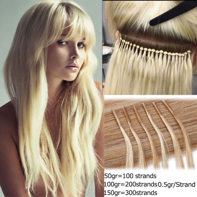 $19.50 • Buy 300S Micro Ring I TIP Keratin Stick Pre Bonded Remy Human Hair Extensions New SY