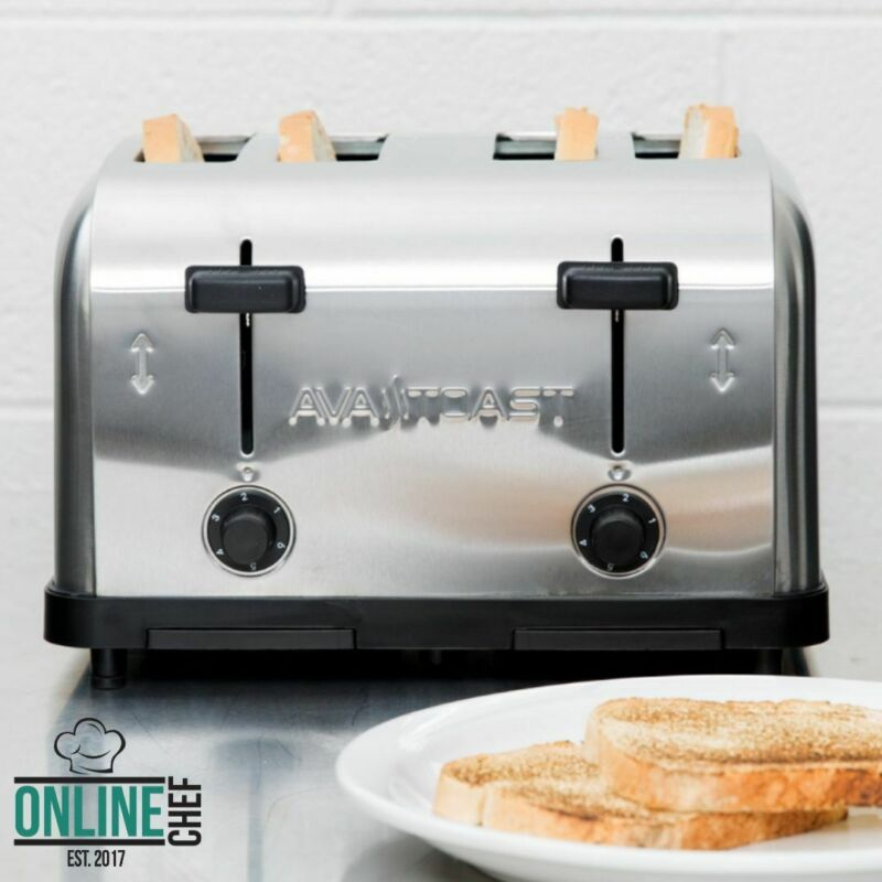 Commercial 4-Slice Toaster 1.5 Inch Slots Toasted Bread Bagels Waffles Machine • 123.13$