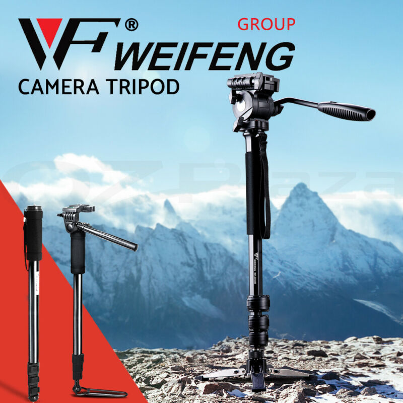 AU20.90 • Buy Weifeng Professional Camera Tripod Monopod Stand DSLR Ball Head Mount Flexible