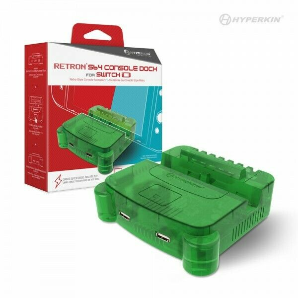 $34.98 • Buy Hyperkin RetroN S64 Console Charging/TV Dock For Nintendo Switch - Lime Green