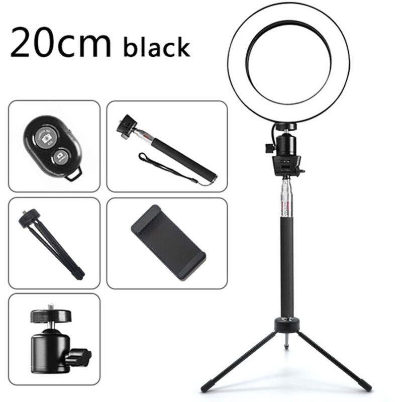 AU29.99 • Buy 8  Ring Light With Stand Dimmable 64LED Lighting Kit For Makeup Youtube Live