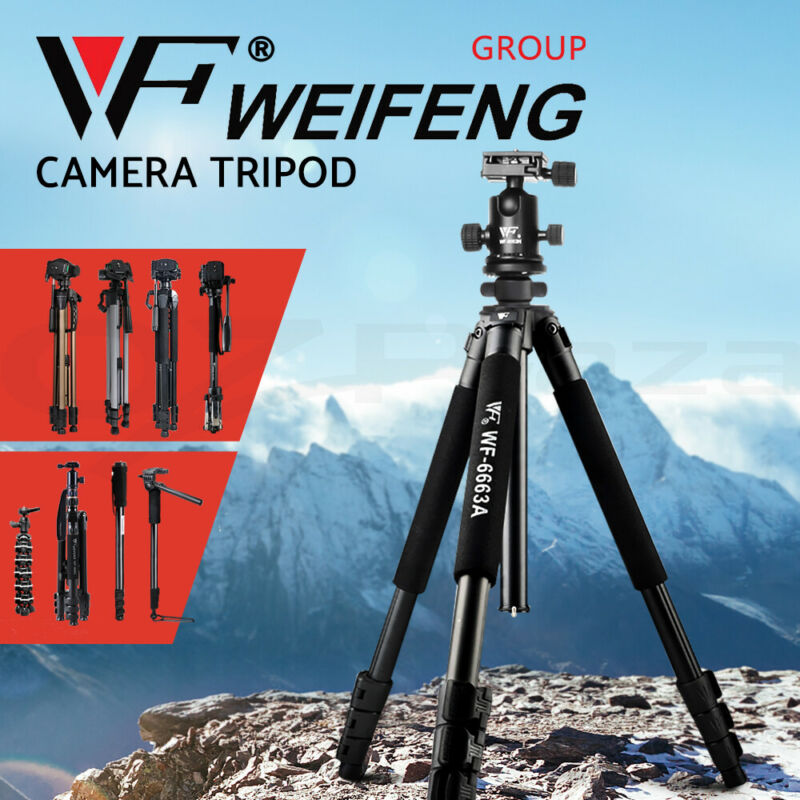 AU34.90 • Buy Weifeng Professional Camera Tripod Monopod Stand DSLR Ball Head Mount Flexible