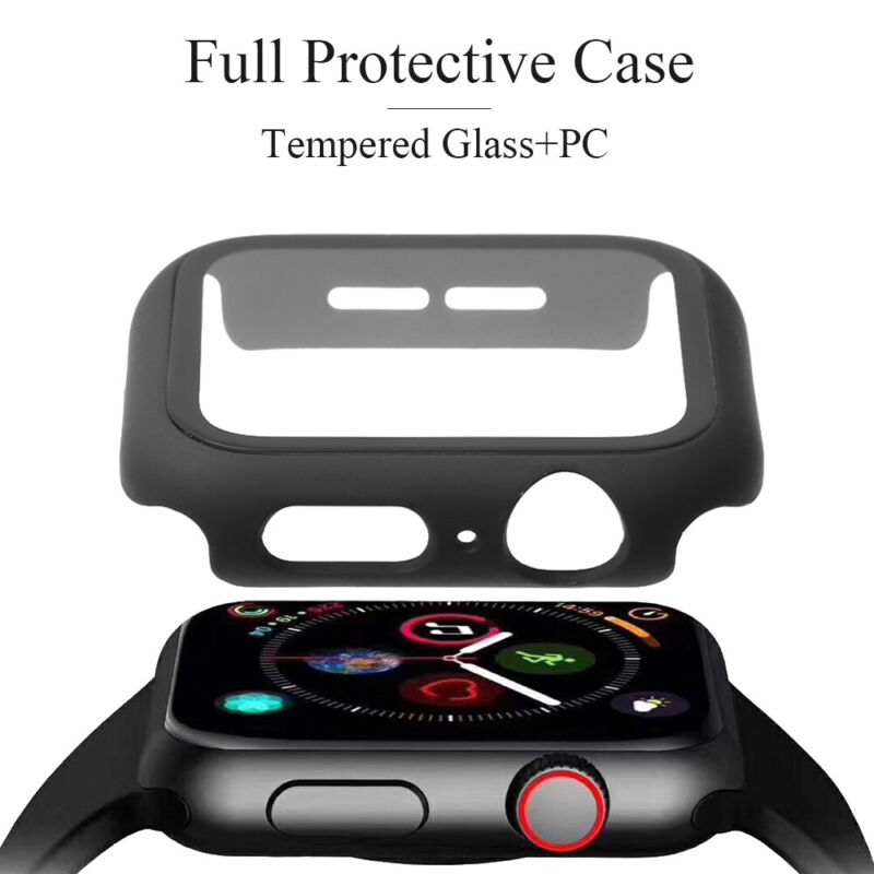 $ CDN3.39 • Buy Tempered Glass Screen Protector Full Bumper Case For Apple Watch Series 4/3/2/1~