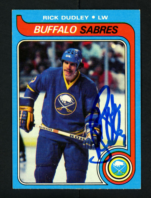 $12 • Buy Rick Dudley Autographed Signed 1979-80 Topps Card #37 Buffalo Sabres 154295
