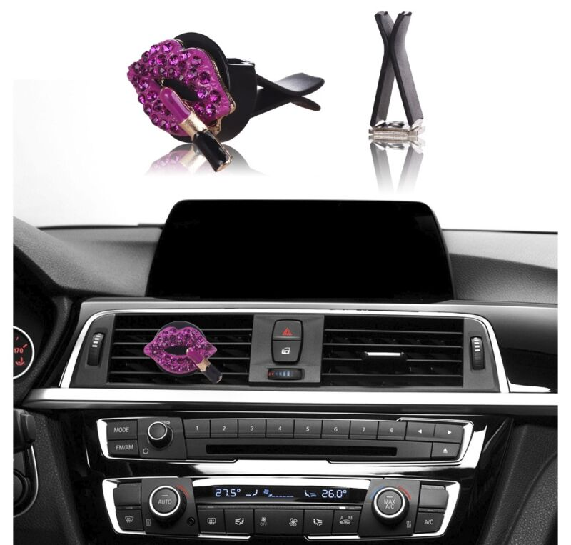 $6.75 • Buy Bling Car Accessories Interior Decoration For Girls Women - Hot Pink Lipstick