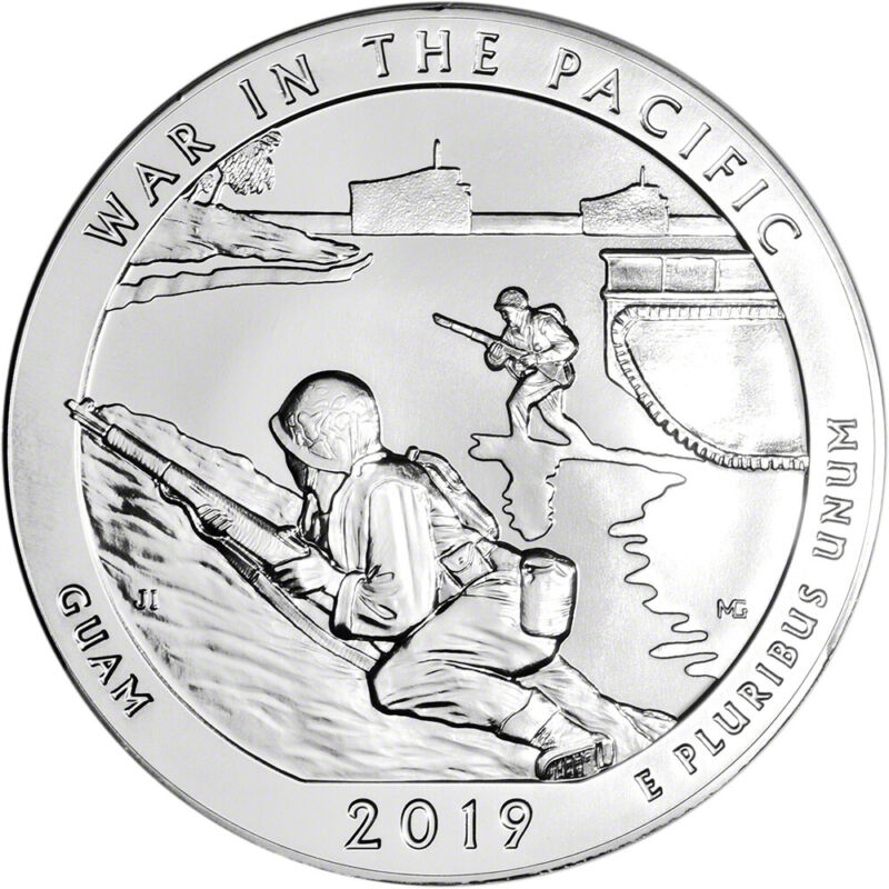 $116.04 • Buy 2019 ATB War In The Pacific Silver 5 Oz 25C - BU
