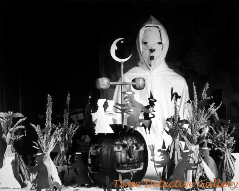 $10 • Buy Vintage Halloween Ghost And Table Decor - Vintage Photo Print