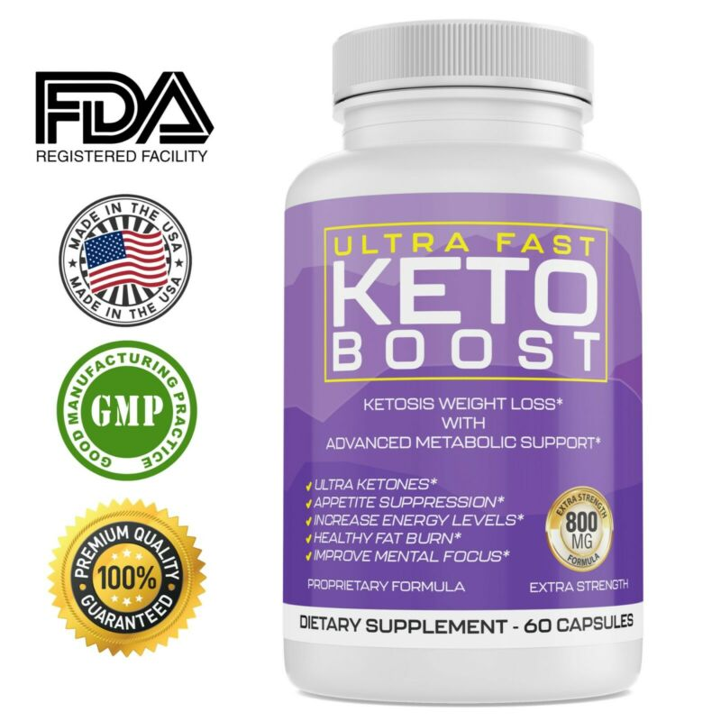 $14.44 • Buy Ultra Fast Keto Boost Energy,  Advanced Weight Loss Diet Pills,  Burn Belly Fat