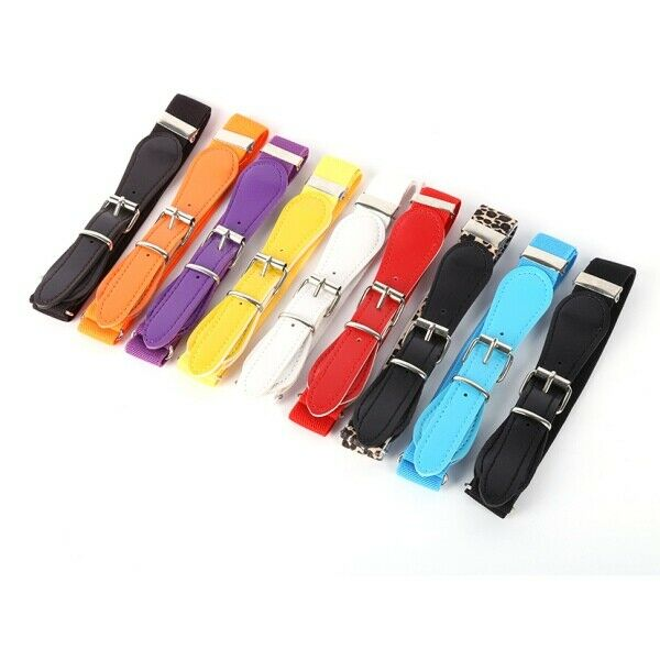 $5.29 • Buy Toddler Kids Boy Girl Adjustable Polyester Leather Belt Waistband Candy Colors