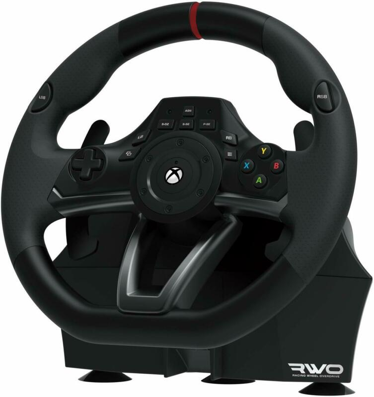 Xbox One Steering Wheel Overdrive And Pedal Set Racing Gaming Driving Simulator • 127.87$