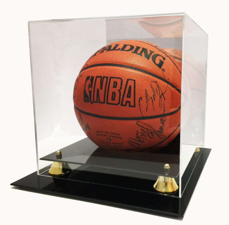 Deluxe UV Protected Full Size Basketball Display Case W/ Mirror Back • 53.99$