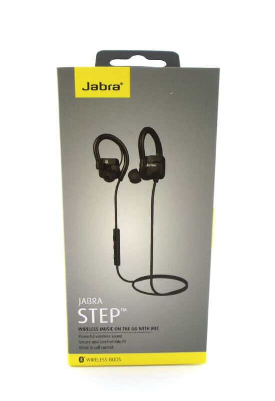 $7.19 • Buy Jabra STEP Wireless Bluetooth Stereo Ear-Hook Headphones Black 100-97000000-02