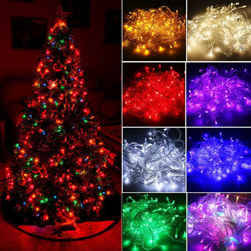 20M 200 LED Christmas String Lights Wedding Xmas Party Decor Outdoor Indoor Lamp • 8.99$
