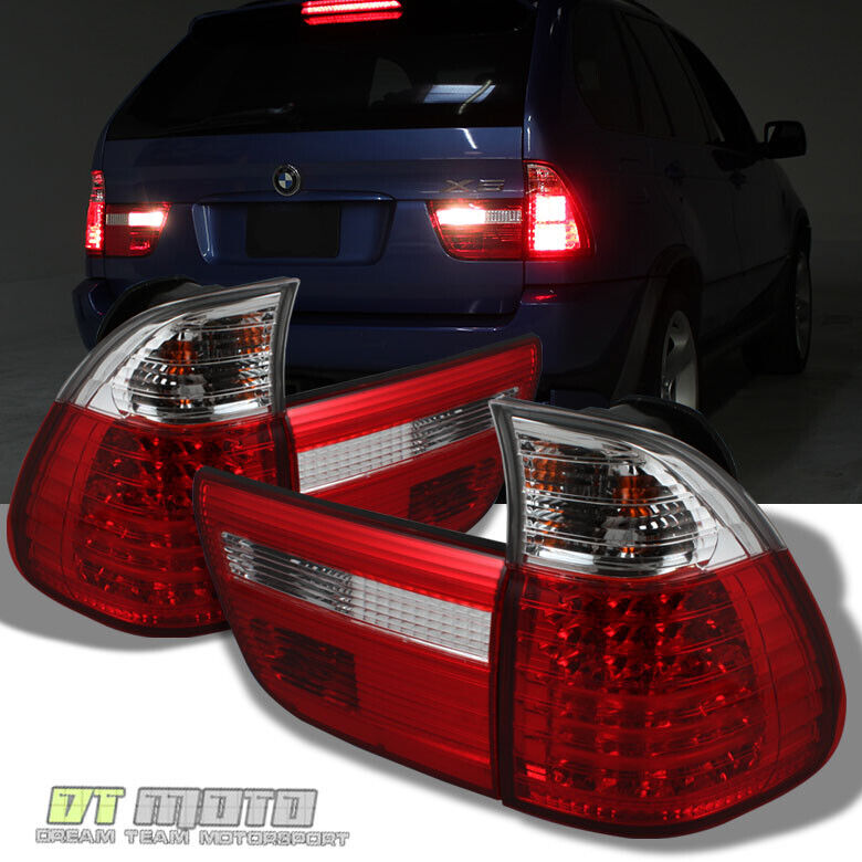 $198.99 • Buy 2000-2006 BMW X5 E53 Lumileds LED Red Clear Tail Lights Brake Lamps Left+Right