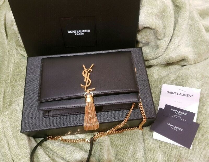 AU1200 • Buy YSL Kate Tassel Chain Wallet In Smooth Leather Bag