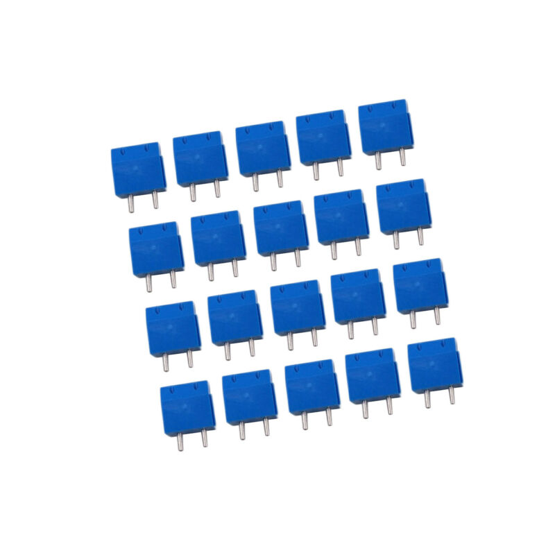 $3.95 • Buy US Stock 20x 5mm Pitch 2 Pin 2 Way PCB Screw Terminal Blocks Connector Blue