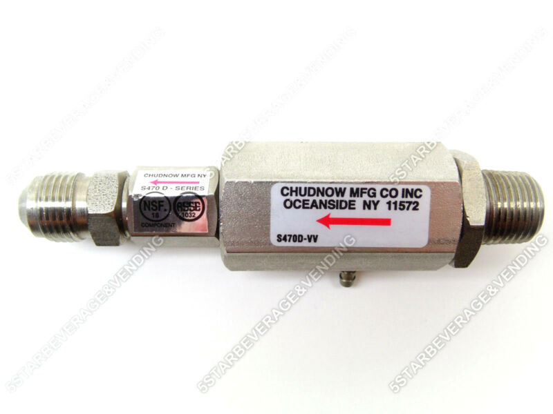 $40 • Buy Chudnow Double Check Valve / Backflow Preventer With Vent Port S470d-vv6p6x