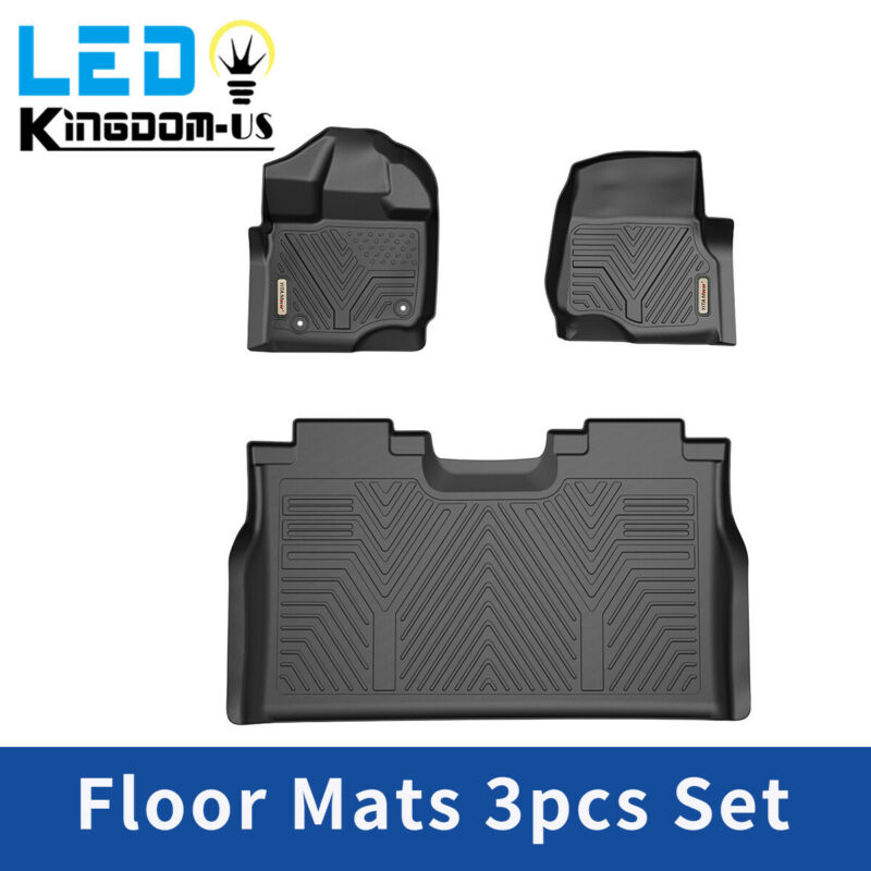 All Weather Floor Mats Floor Liners For 2015-2020 Ford F-150 SuperCrew Cab Black • 115.99$