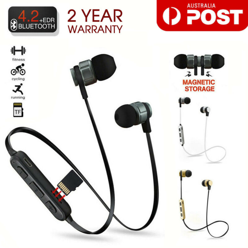 AU9.99 • Buy Sweatproof Wireless Bluetooth Earphones Headphones Sport Gym For IPhone Samsung