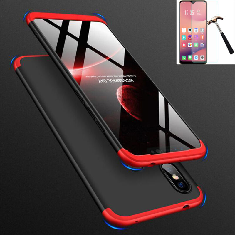 For Xiaomi Redmi Note 7/8/8Pro 360°Protection Case Slim Cover+Tempered Glass • 4.87$