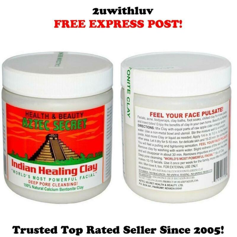 AU24.95 • Buy Aztec Secret Indian Healing Clay Mask Facials Acne Pore Cleansing *express Post*