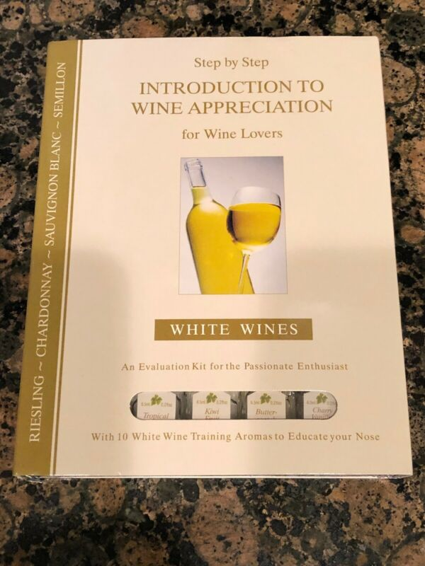 Epic Production Inc White Wine Appreciation Kit, 10 Aroma Set Tasting Kit New • 45$