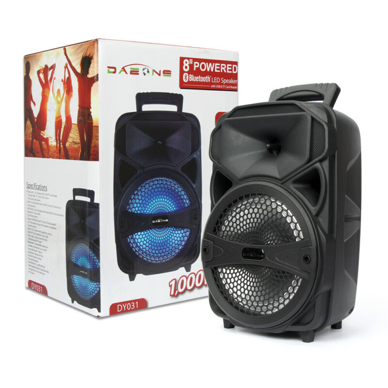 8  Party Bluetooth Speaker 1000 Watts System Led Portable Stereo Tailgate Loud • 32.49$