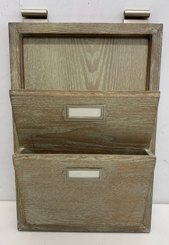 $43.20 • Buy Pottery Barn Daily System Letter Bin Livingston Gray NEW Display Rod (Not Includ
