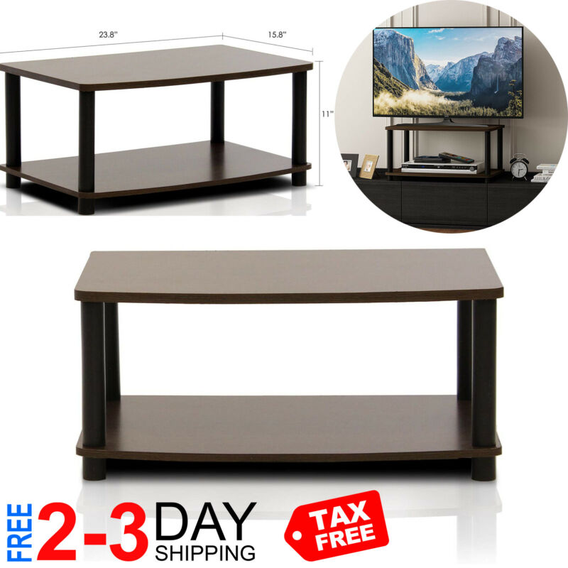 $26.99 • Buy Modern Brown Coffee Table Small Wood Storage TV Stand Living Room Furniture New