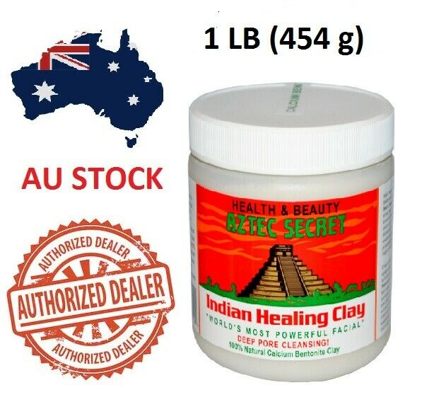 AU22.99 • Buy Aztec Secret Indian Healing Clay Facial Deep Pore Cleansing Mask 454g Genuine AU