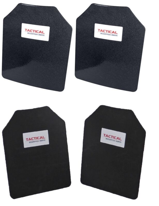 Tactical Scorpion Level Stab Proof 3A UHMWPE Body Armor Hard Curved 10x12 Plate