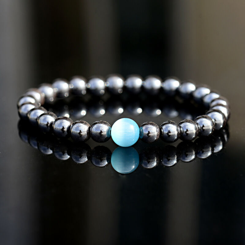 $4.99 • Buy Unisex Therapeutic Energy Healing Bracelets Hematite Magnetic Women Men Bracelet