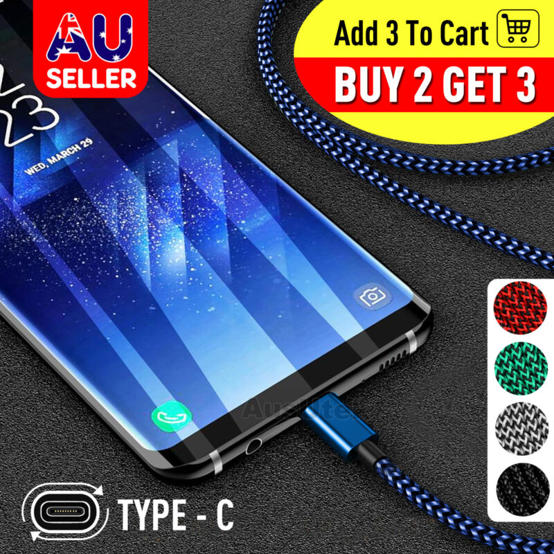AU4.49 • Buy Fast Charger USB C Type-C Data Cable For Samsung S8 S9 S10 Note 10 Plus A50 A70