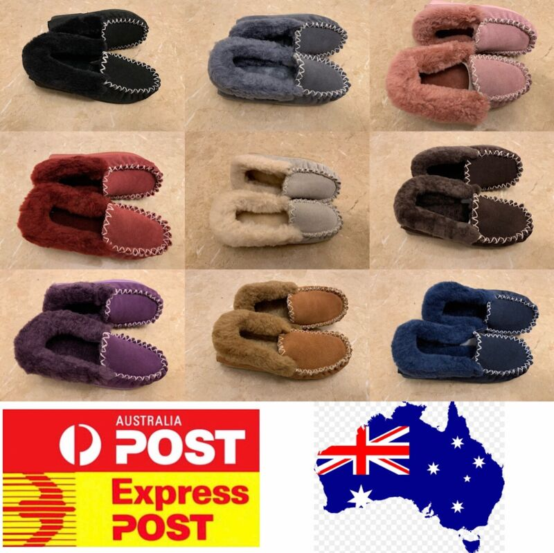 AU39.95 • Buy UGG Moccasin Slippers, 100% Sheepskins, AU Stock, Size Measurement In Women Size