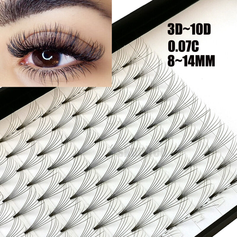 AU7.97 • Buy 12 Lines 3D~10D Russian Premade Volume Fans Eyelashes C Curl 0.07 Lashes CY