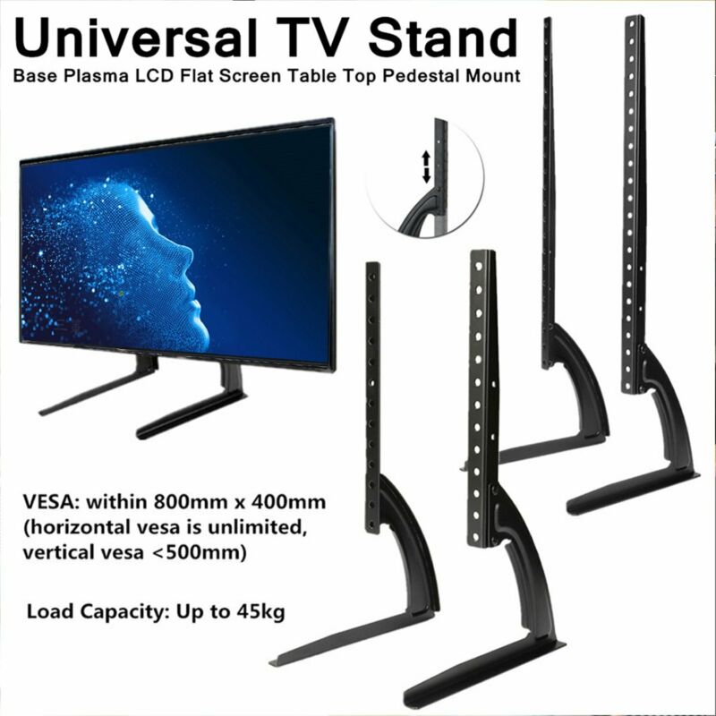 Universal Table Top TV Stand Leg Mount Holder Bracket For Flat LED LCD Screen • 16.33$
