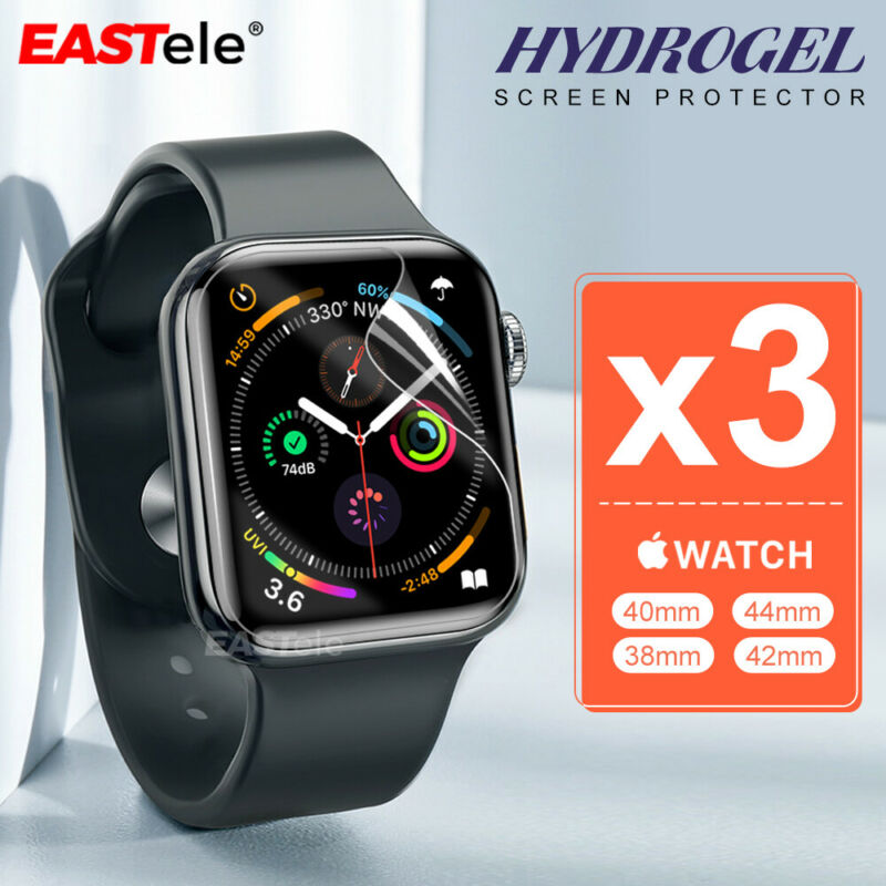 AU7.95 • Buy 3x Apple Watch 5 4 44&40mm Series 5 4 10D HYDROGEL Full Cover Screen Protector