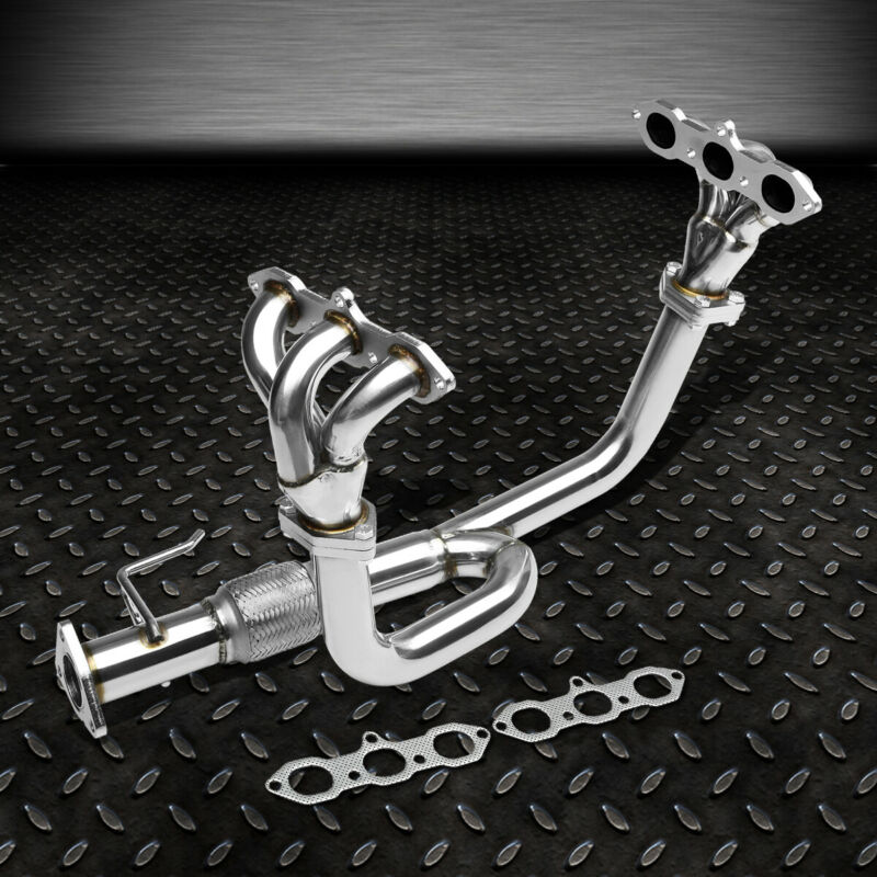 STAINLESS RACING HEADER EXHAUST MANIFOLD FOR 98-02 ACCORD 3.0 V6//99-03 TL//CL