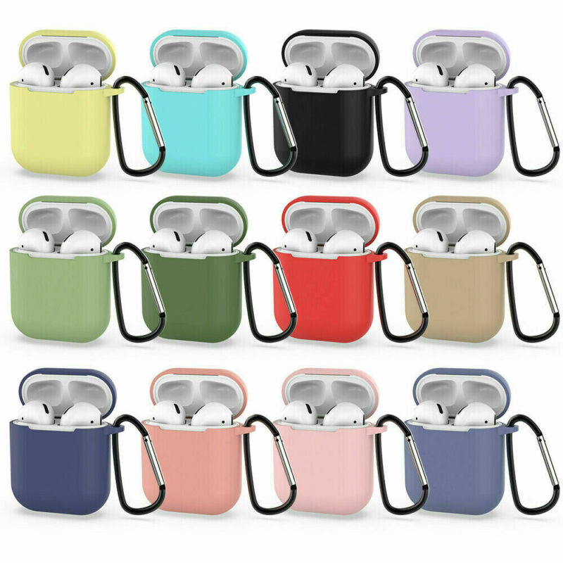 $ CDN3.14 • Buy AirPods Silicone Case Cover Protective Skin For Apple Airpod Charging+Keychain H